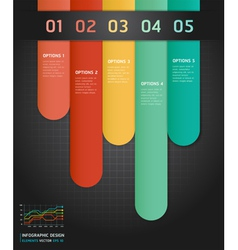Colorful number options banner template vector