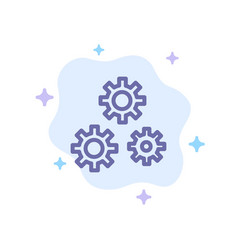 Configuration gears preferences service blue icon vector