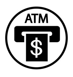 credit card atm slot sign icon vector image