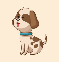Cute dog wildlife image vector