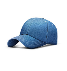 denim baseball cap uniform cap hat realistic 3d vector image