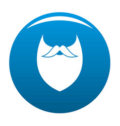 Dense beard icon blue vector