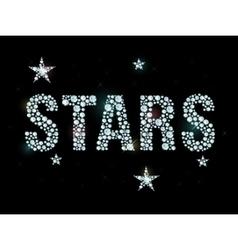 Diamond word stars vector image