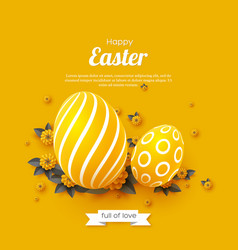 Easter holiday greeting card vector