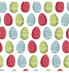 eggs decorated for easter holiday celebration vector image