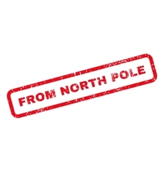 From North Pole Text Rubber Stamp vector