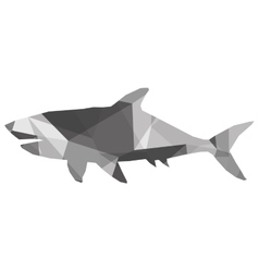 geometric texture shark silhouette icon vector image