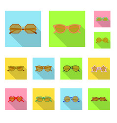 Glasses and sunglasses sign vector