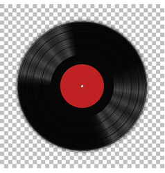 Gramophone vinyl lp record template isolated vector