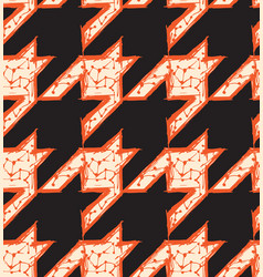 hand drawn houndstooth seamless pattern vector image