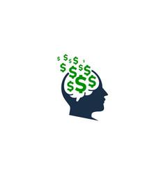 Head money logo icon design vector