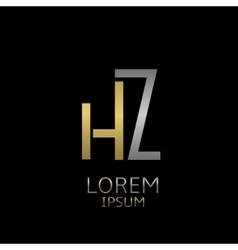 HZ letters logo vector image
