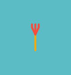 icon flat rake element of vector image