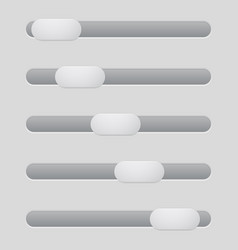Interface slider gray bar vector