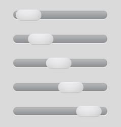 interface slider gray bar vector image