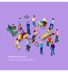 Isometric People Society vector image vector image