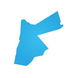 jordan blue map isolated on white background vector image