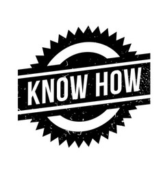 Know how rubber stamp vector