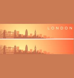 London beautiful skyline scenery banner vector