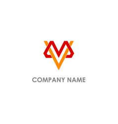 M v initial company logo vector