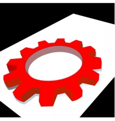 mechanic wheel vector image