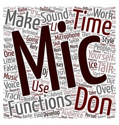 Microphone Technique text background wordcloud vector