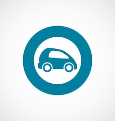 Mini car icon bold blue circle border vector