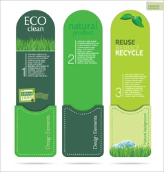 Modern design Eco labels vector