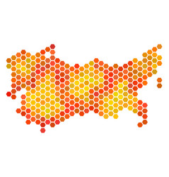 Orange hexagon ussr map vector