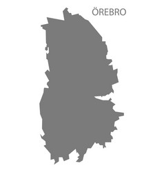 Orebro sweden map grey vector