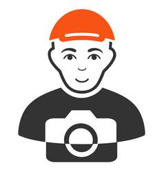 Paparazzi flat icon vector