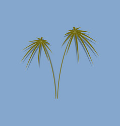 Paper sticker on stylish background plant cyperus vector
