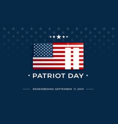 patriot day background - 911 september 11 2001 vector image