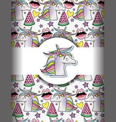 pop art background vector image