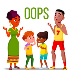 Problem reaction oops word concept banner vector