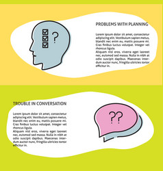 Problems with planning and social communication vector