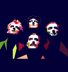 queen band color pop art style vector image