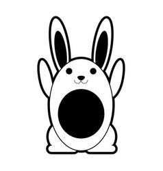 rabbit or bunny cartoon icon image vector image
