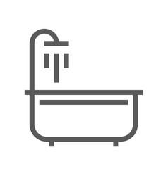 real estate line icon vector image