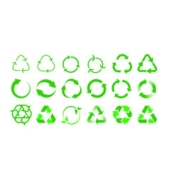 Recycling icons bio reuse package label templates vector