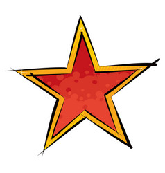 red and orange star vector image