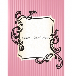 romantic French frame vector image