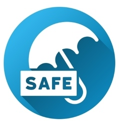Safety Umbrella Gradient Round Icon vector