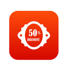 sale label 50 percent off discount icon digital vector image