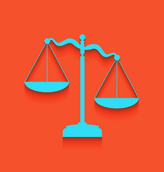 Scales of justice sign whitish icon on vector