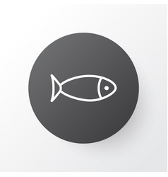 seafood icon symbol premium quality isolated fish vector image