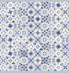 Seamless pattern of hydraulic tiles typical vector