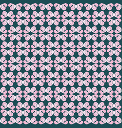 Seamless pattern of pale pink petals on a dark vector