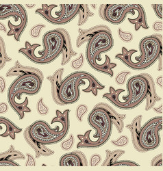 seamless pattern paisley vector image