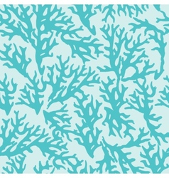 Seamless pattern with blue coral good for textile vector